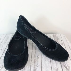 Merrell Avesso Black Shoes Suede Flats Sz 11